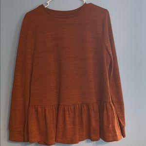 Rust/Burnt Orange Sweater
